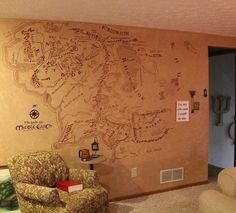 map of middle earth painted on a wall this is so going to be in my house my future home pinterest middle earth middle and earth
