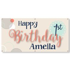 2 x 4 Banner - Celebrate with this durable, custom x 13 oz. vinyl banner that is great for birthday and graduation parties! Vinyl Banners, Custom Banners, Birthday Favors, Birthday Bash, Promotional Banners, Facebook Sign Up, Party Themes, Marketing, How To Plan