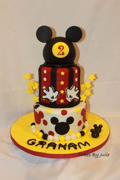 Mickey Mouse 2nd Bday cake!