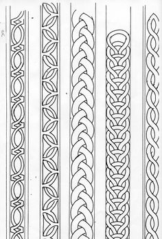how to draw a simple celtic knot border