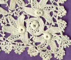 irish+crochet+patterns | IRISH ROSE CROCHET PATTERN | Crochet For Beginners