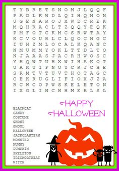 Tricky Halloween Word Search Coloring Amp Activity Pages
