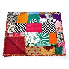 NMK Textiles, INC Kantha Handcrafted Cotton Throw
