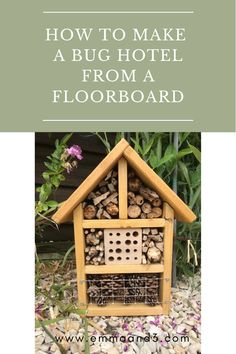 How To Make A Bug Hotel From An Old Floorboard - Emma and 3 Bug Hotel, Tuff Tray, Wood Steps, Animal Habitats, Living On A Budget, Nook And Cranny, Play To Learn, Stem Activities, Wood Blocks