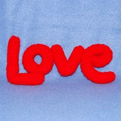 Love is the Word is the pattern for Valentine's Day