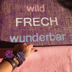 """Am """"wunderbar"""" arbeite ich noch ;-) www.herzteil.de #yoga #yogamats #yogalifestyle #handpainted"""