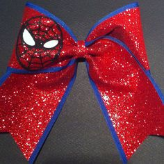3in. Glitter Spider-Man Superhero Cheer Bow on Etsy, $12.00