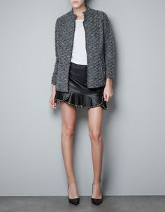 BOUCLE KNITTED JACKET WITH CHAINS - Collection - Woman - SALE - ZARA United States