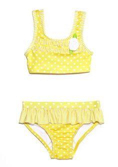 Not only grown ups can wear the fashion! Your little misses can join the parade too! Polka Dots Swim wear for kids. Adorablish!