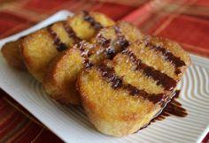Orange-Cinnamon French Toast. (uses butter, honey, cinnamon, eggs, orange juice)