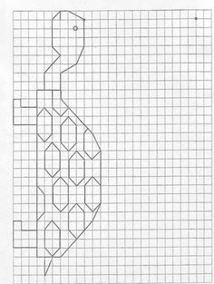 Graph Paper Drawings, Graph Paper Art, Symmetry Worksheets, Math Worksheets, Hidden Pictures, Pictures To Draw, Blackwork Embroidery, Cross Stitch Embroidery, Math Art