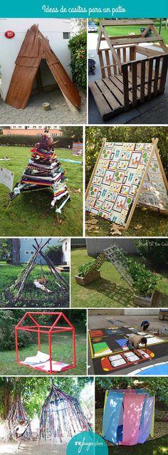 Ideas de casitas y cabañas para un patio de escuela. Crea un espacio acogedor para fomentar el juego simbólico y momentos de descanso en la hora del patio.