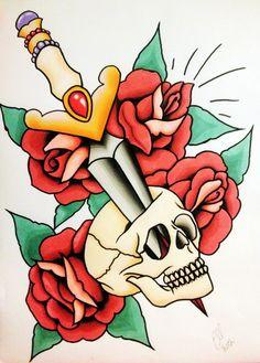 Skull + dagger