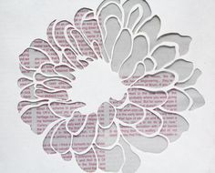 These diy floral paper cut outs are so easy to make crafts flower patterns to cut out artist flower paper cut by linda bennett mightylinksfo