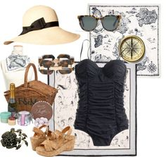 """""""Picnic on the Beach"""" by annazeitlin on Polyvore #hats"""