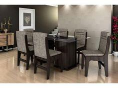 Conjunto de Mesa 6 Cadeiras Movale - Amsterdam-de R$ 2.199,00 por R$ 1.299,99  R$ 117,00 em até 10x de R$ 130,00 sem juros no cartão de crédito  ou R$ 1.234,99 à vista (5% Desc. já calculado.)