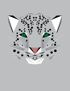 Clever and affordable illustrations for kids' rooms ... Love it!! Snow Leopard. Illustration © 2012 Mat Mabe.