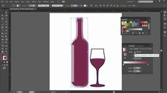 Add depth to your vector artwork! Learn how to apply a gradient to a stroke with 'Total Training for Adobe Illustrator CC'. Available now with your total Training subscription! ------ #adobe #illustrator #creativecloud #vectorartwork #wine