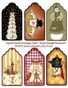 Snowman Tags For Christmas Gifts (printables) Noel Christmas, Christmas Gift Tags, Christmas Paper, Christmas Projects, Winter Christmas, All Things Christmas, Holiday Crafts, Holiday Fun, Christmas Decor