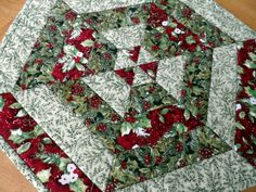 Christmas table topper hexagon table runner by SusansPassion