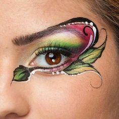 Eye design Adult Face Painting, Eye Painting, Face Painting Designs, Face Paint Makeup, Eye Makeup, Ethereal Makeup, Fantasy Make Up, Magical Makeup, Maquillaje Halloween
