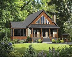 Classic Mountain Cabin - 80685PM | Cottage, Mountain, Vacation, Canadian, Metric, Narrow Lot, 1st Floor Master Suite, CAD Available, PDF | Architectural Designs