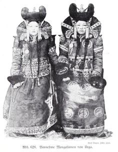 Canis Albus - the-two-germanys:  Bornehme Mongolinnen von... Berlin, Ethnic Dress, Two By Two, Culture, Fine Art, Kunst, Visual Arts