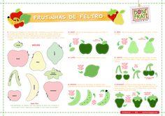Blog BoniFrati: Molde - Frutas de Feltro para o Dia dos Professores!
