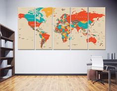 World Map Wall Art World Map Canvas World Map Print World   Etsy World Map Canvas, World Map Wall Art, World Map Decal, Art World, Marble Painting, Marble Print, Abstract Canvas, Canvas Art, Canvas Prints