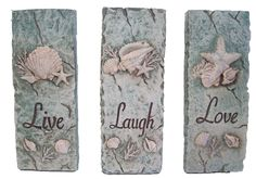 Ceramic Wall Plaques...great for a themed room, bathroom, beach house or cottage $17.99