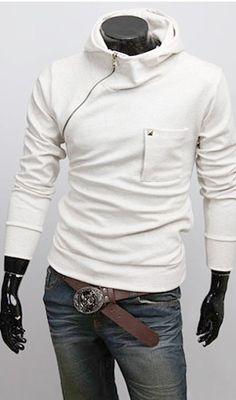 $30 Poleron Blanco Cierre Hombro Best Mens Fashion, Womens Fashion, Reyes, Victorian Fashion, Pyjamas, Stylish Outfits, Menswear, Sweatshirts, Mens Tops