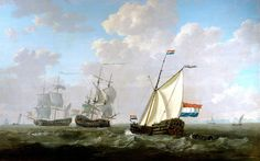 Jacob van Strij - The yacht of the VOC Chamber of Rotterdam 1790