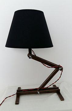Flexible Lamp Wooden Desktop Decorative Table Folding Dressing Light Wood