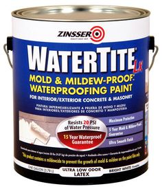 WaterTite LX Mold & Mildew-Proof Waterproofing Paint at Menards - for basement and garage!