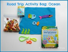 Road Trip Activity Bag--Ocean--The Peaceful Mom