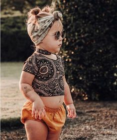 Hippie style toddler girl girls fashion bohemian boho style baby boho style crop top fashion style boho outfits for kids fashionista toddler style baby girl girls fashion vintage style Hipster Girl Fashion, Baby Girl Fashion, Toddler Fashion, Kids Fashion, Fashion Clothes, Fashion Fashion, Fashion Skirts, Fashion Videos, Bohemian Fashion