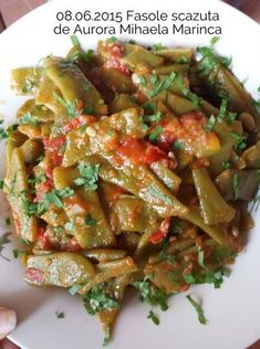 08.06.2015 Fasole scazuta Aurora Mihaela Marinca Kung Pao Chicken, Vegetable Recipes, Green Beans, Cookie Recipes, Food And Drink, Vegetables, Cooking, Ethnic Recipes, Foods