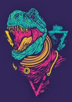 Draw Dinosaurs Digital Drawing Illustration on Behance - Arte Dope, Dope Art, Japon Illustration, Digital Illustration, Dinosaur Illustration, Poster Design, Design Art, Graphic Design, Art Graphique