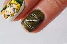 Nail art The Legend of Zelda (Z Symbol) - Chlokeispolished.com