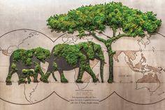 Moss Wall Art, Moss Art, Moss Graffiti, Moss Decor, Green Wall Art, Wall Installation, Art Installations, Unique Plants, Garden Architecture