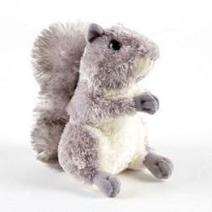 "Nutty the Gray Squirrel - 8"" by Aurora - 30532-AR  Nutty is a backyard favorite- a stuffed grey squirrel! He loves to be with his friend, the brown squirrel Nutsie. ***Squirrel is only 6.5""***"