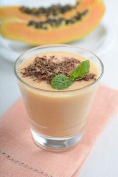 Een lekkernij voor de slanke lijn uit Thailand: papaya smoothie met peer, limoen…