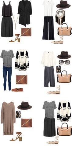 What to Wear in Barcelona, Spain Outfits 11-16. Entire Packing list is on the blog. #packinglight #travellight #traveltips #packinglist