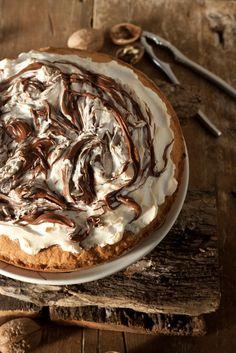 Nutella & Meringue Tart #nutella #dessert