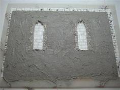 Stencil Applied Stone Finish