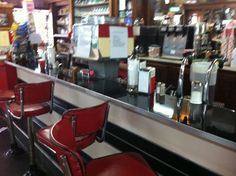 soda fountain.  I miss those days of having a chocolate soda or lunch at a lunch counter like this.