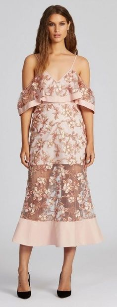 Blush Blossom Crystalised Sheer Maxi Dress by Alice McCALL