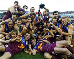 Brisbane Lions Premiers threepeat in 2003 Australian Football, Player 1, Brisbane, Rugby, Lions, Dads, Seasons, Celebrities, Celebrity