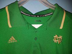Golf Shirt Notre Dame Fighting Irish Mens Polo Short Sleeve Adidas XL #Adidas #PoloRugby