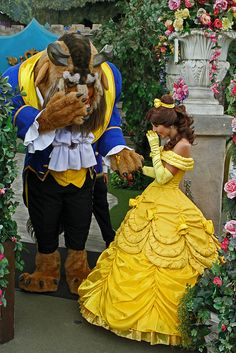 Beast and Belle sharing a laugh...<3
